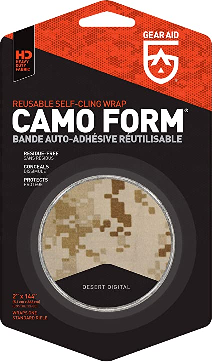 Camo coating for Weapons Gear Aid mcn19501 Camo Form Self Cling Wrap