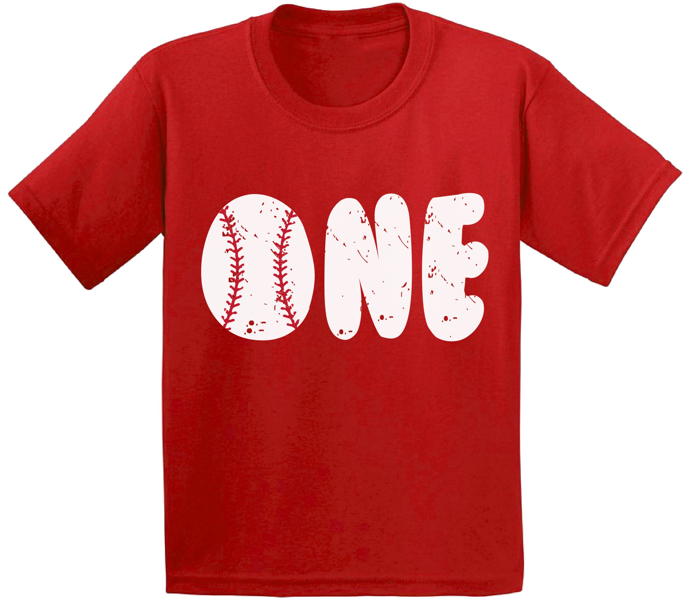 Awkward Styles Baseball Birthday Toddler T Shirts Infant First Party Baby Red 6M