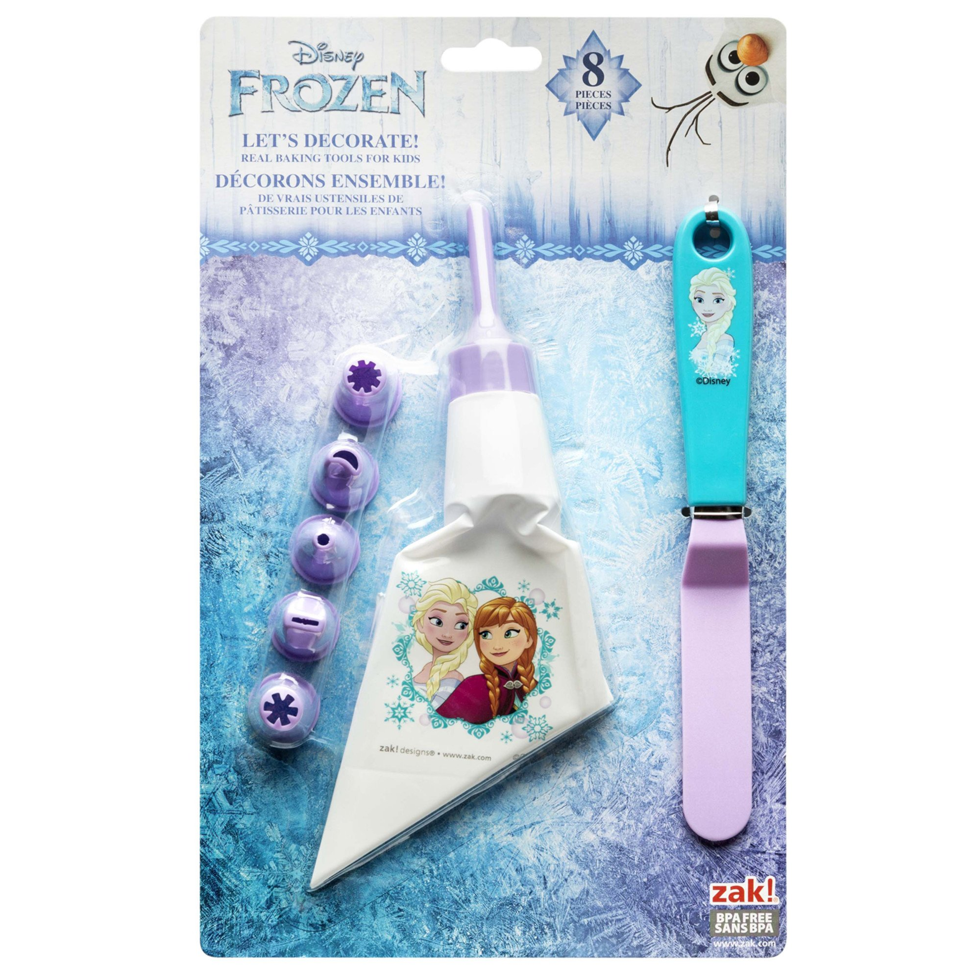 Zak Designs Lets Decorate! Frosting Bag and 6 Tips for Cooking with Kids, Anna & Elsa