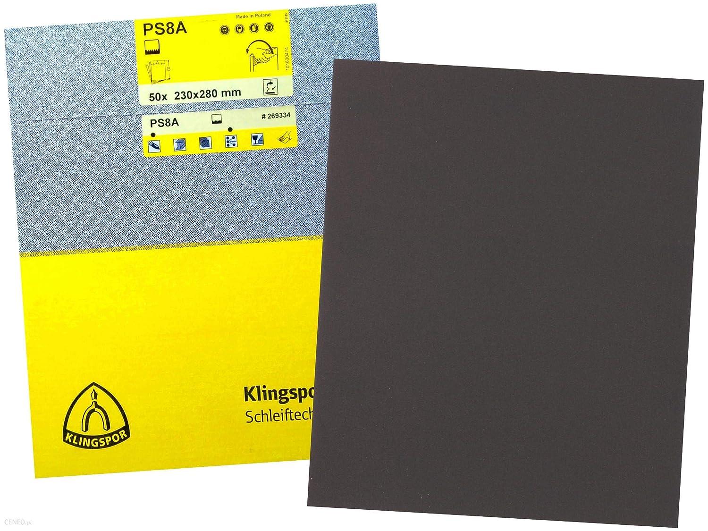230/x 280/Grain 1200//étanche Papier abrasif/ PS8A-180-50-230x280 /Parent Klingspor ps11/a-1200 50