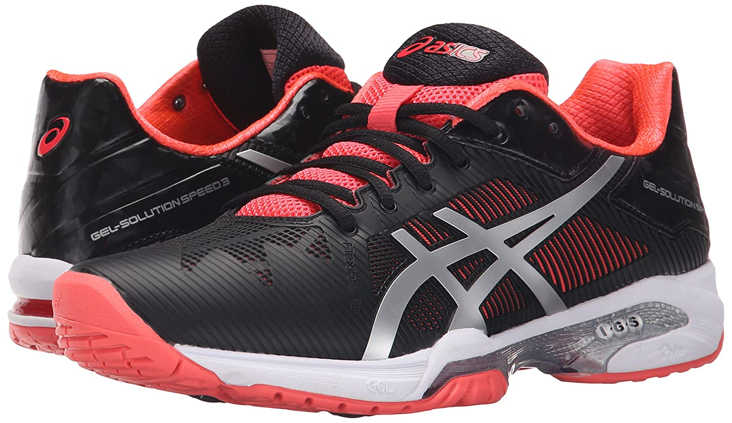 ASICS Women's Gel-Solution B00ZCFCLJ6 Speed 3 Tennis Shoe B00ZCFCLJ6 Gel-Solution 10 B(M) US|Black/Silver/Diva Pink fbfb48