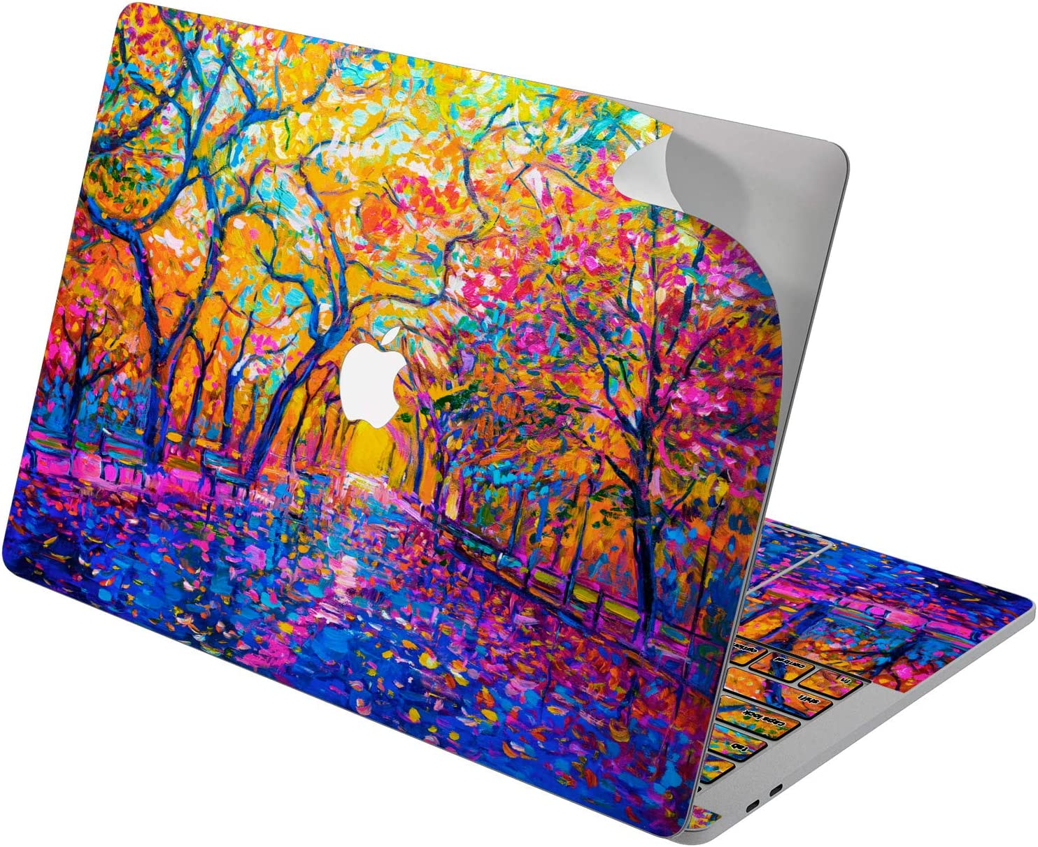 "Cavka Vinyl Decal Skin for Apple MacBook Pro 13"" 2019 15"" 2018 Air 13"" 2020 Retina 2015 Mac 11"" Mac 12"" New Cover Design Bright Autumn Artwork Painting Colorful Sticker Print Protective Laptop Nature"