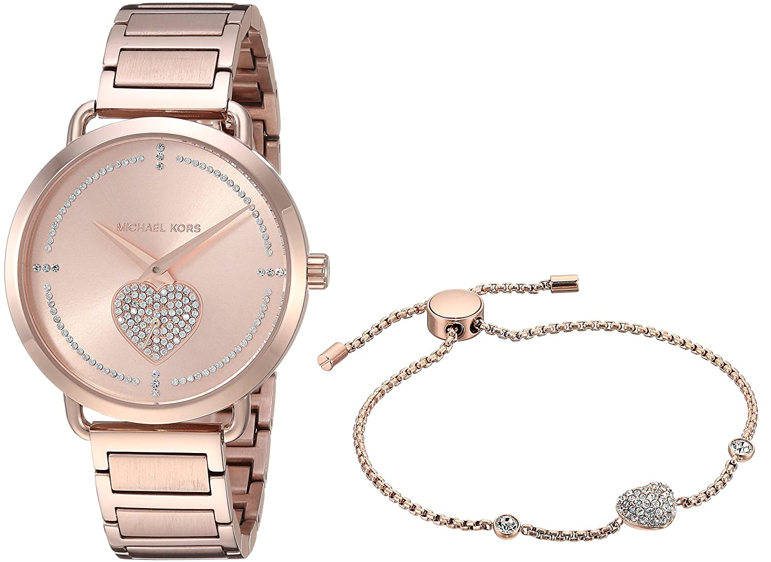 Amazon.com: Michael Kors Womens Portia Analog Display Analog Quartz Rose Gold Watch MK3827: Michael Kors: Watches