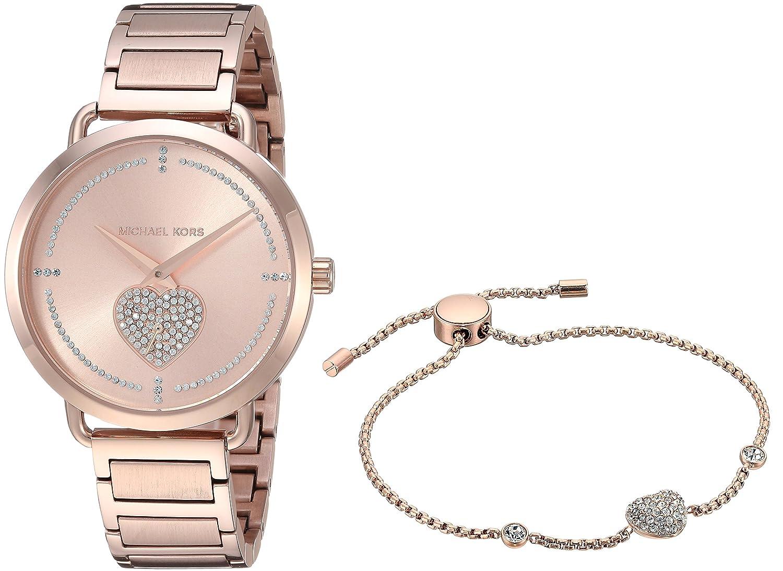 Amazon.com: Michael Kors Womens Portia Analog Display Analog Quartz Rose Gold Watch MK3827: Michael Kors: Watches