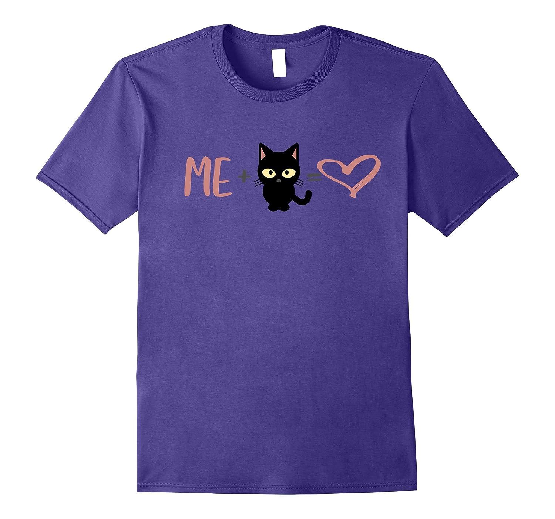 Cat lover Tee - Me plus Cat equals Love-CD