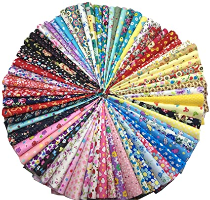 misscrafts 70pcs Top Algodón 100% impreso Craft Tela ...