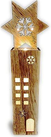 LED Weihnachtsaufsteller Stern Weihnachtsdeko Holz Weihnachtsbeleuchtung  Innen Kabellos Weihnachten Haus