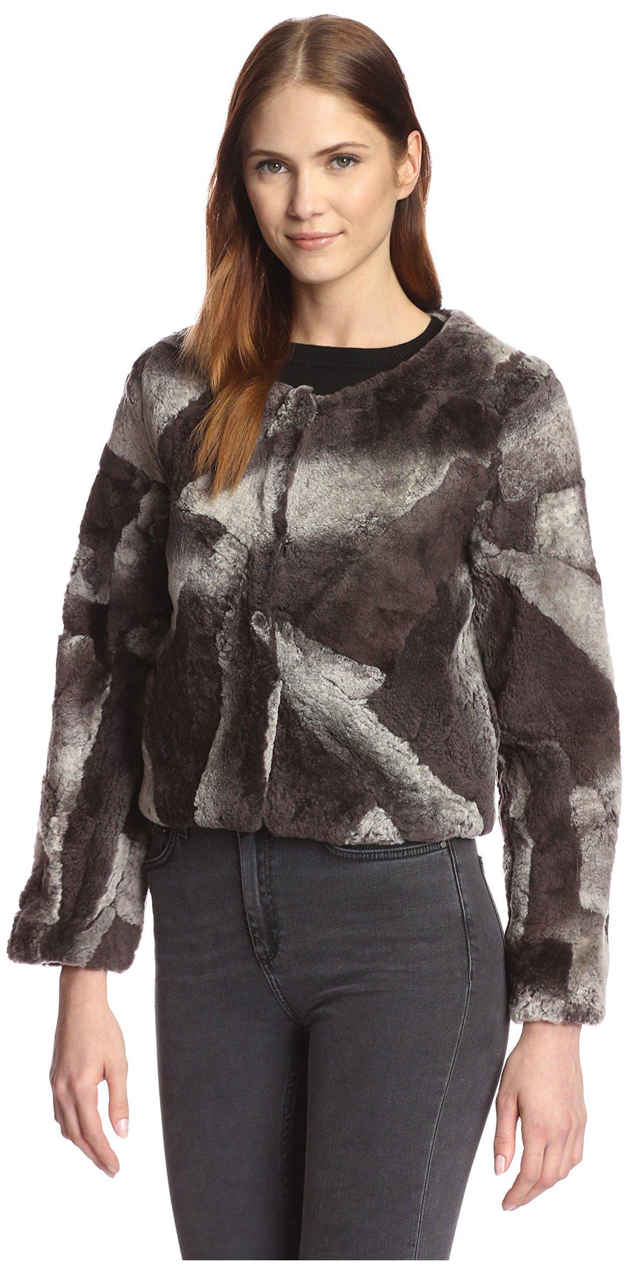 Love Token Women's Ellen Short Shearling Jacket, Multi, S
