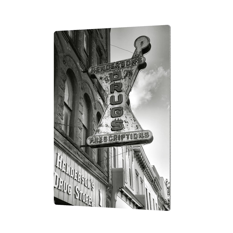 ArtWall Steve Ainsworths Drug Store Sign Artmetalz Aluminum Print 24 x 36
