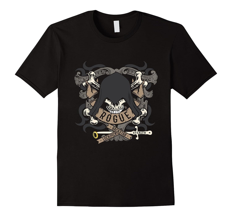 Rogue Skeleton Tabletop RPG Shirt-TD