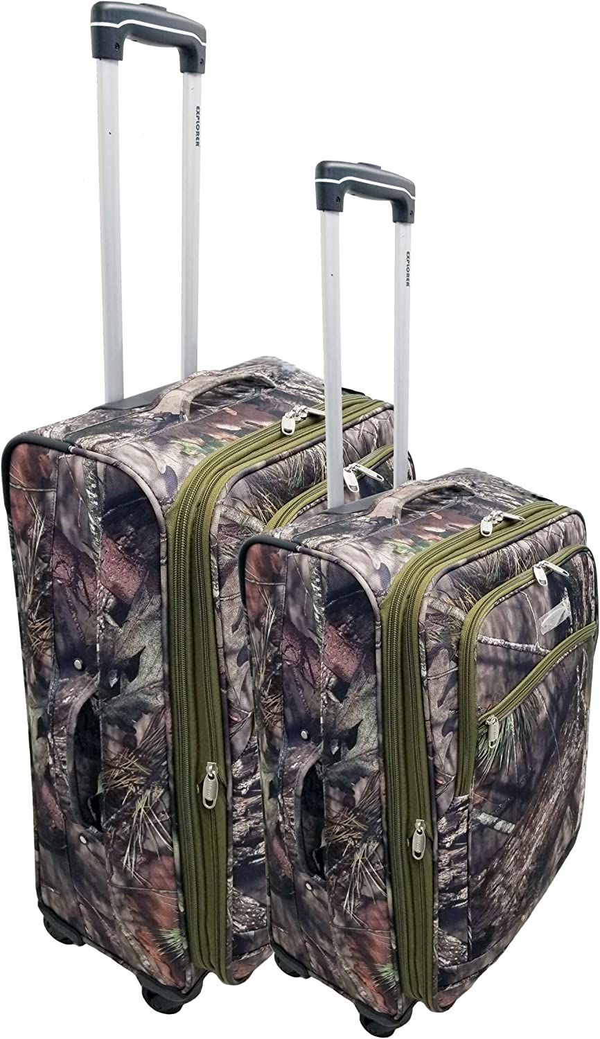 Explorer Mossy Oak Realtree Like Tactical Hunting Camo Heavy Duty Duffel Bag Luggage Travel Gear for Huniting Outdoor Police Security Every Day Use