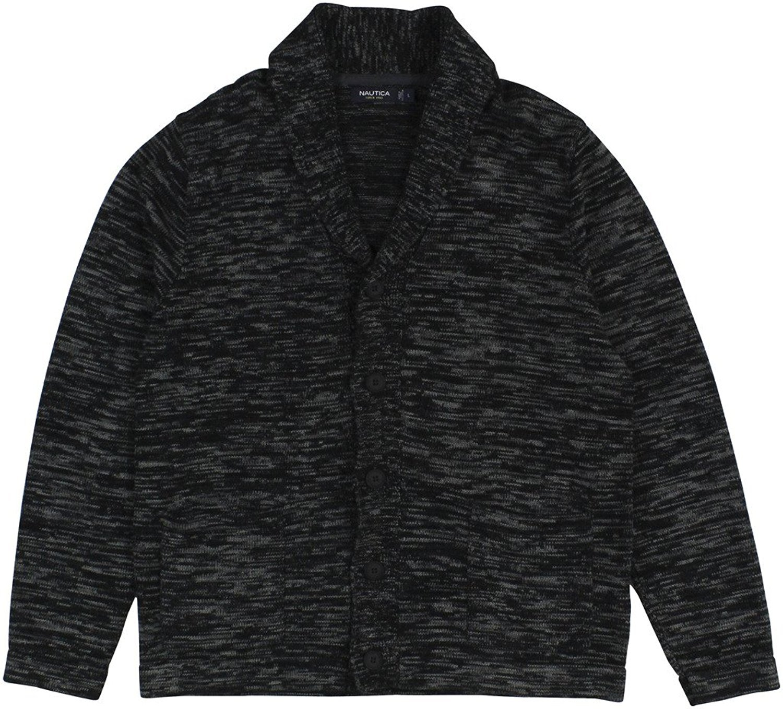 Nautica Men's Shawl Collar Button-Front Blazer (Large, True Black)