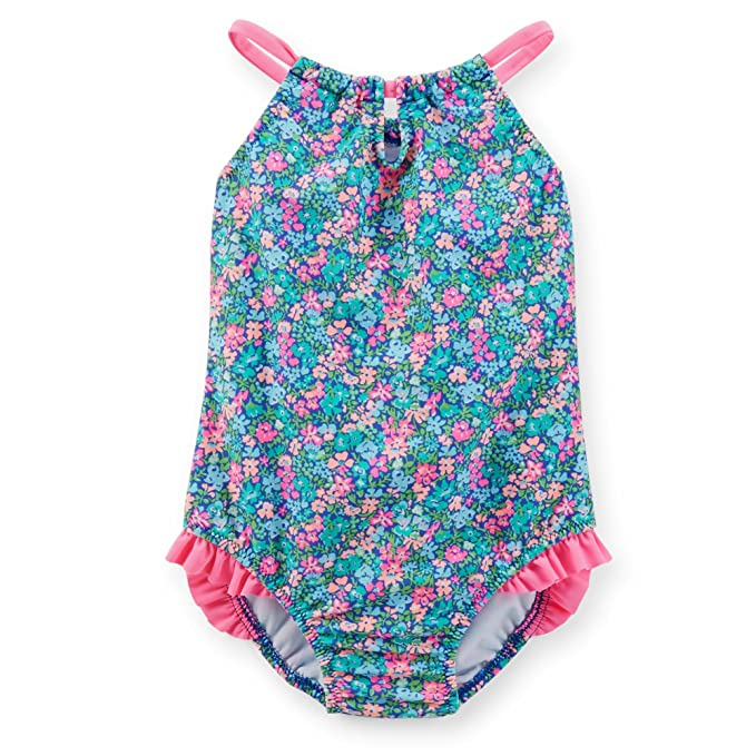 4eafeb94e7 Amazon.com  Carter s Baby Girls  1-piece Swimsuit (12 Months
