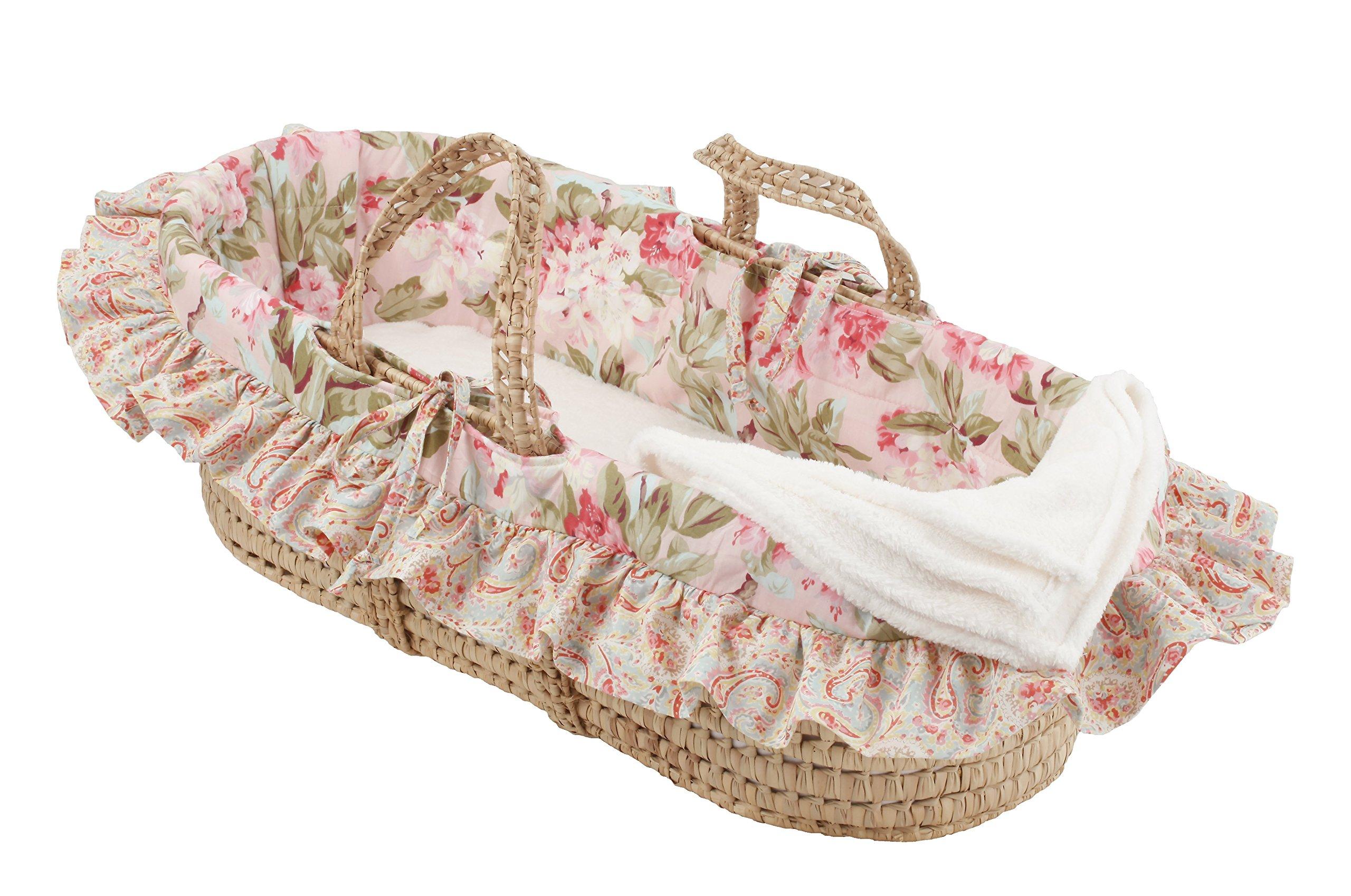 Cotton Tale Designs Moses Basket, Tea Party by Cotton Tale Designs
