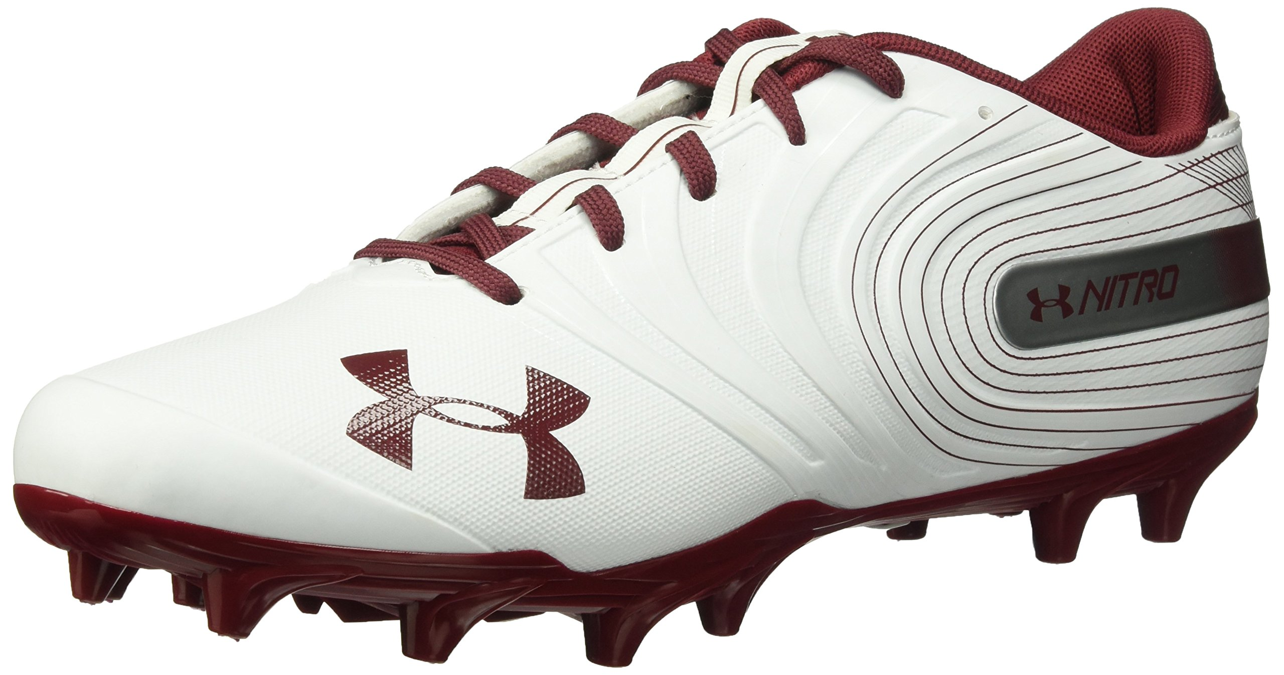 Under Armour Men's Nitro Low MC Football Shoe, White, 11