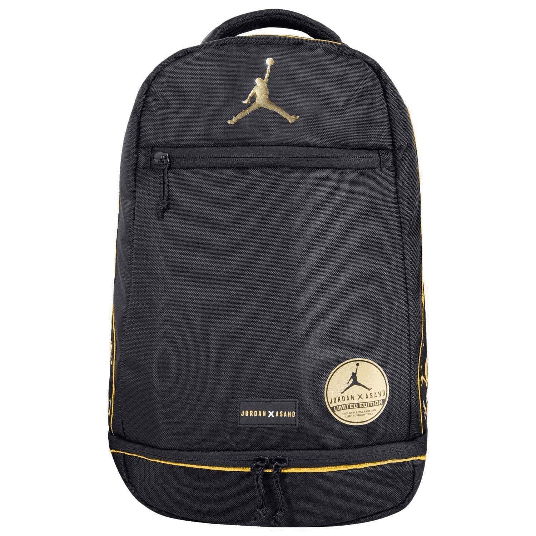 692c6d7d0a7 Amazon.com: Jordan Nike DJ Khalid X ASAHD Black Gold Jumpman Backpack Book Gym  Bag Unisex: Clothing