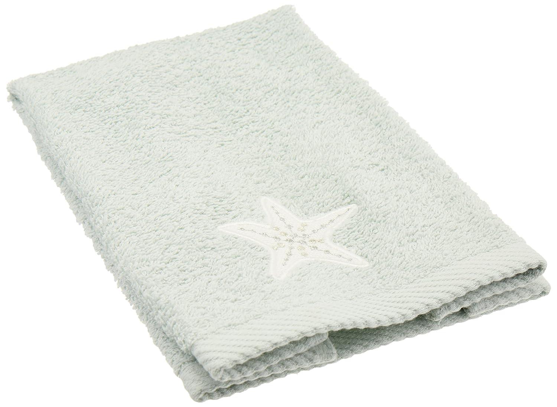 Avanti Linens 036734MIN Sequin Shells Finger Towel, Medium, Mineral
