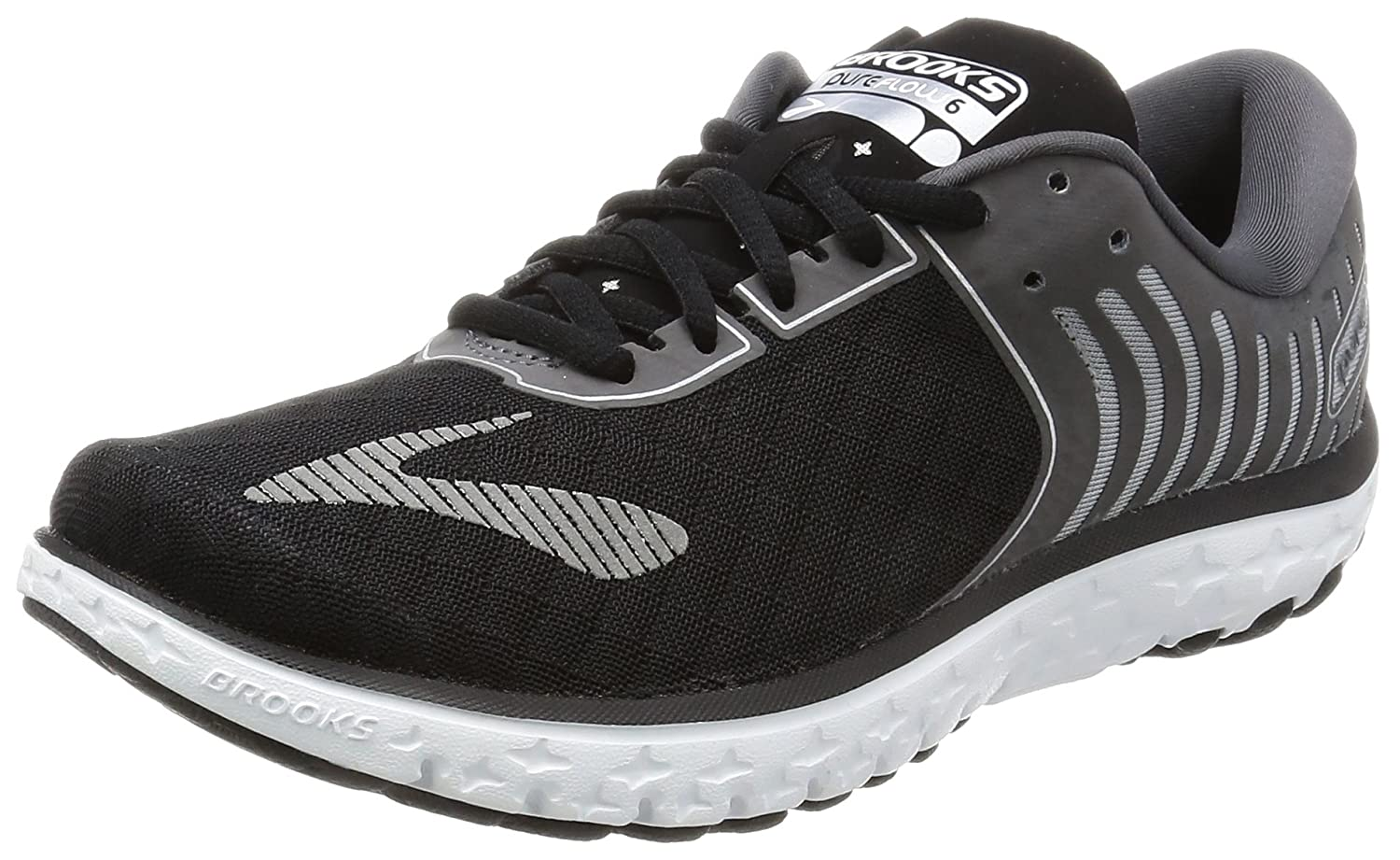 afbcb9585a5ad Brooks PureFlow 6 Black Anthracite Silver Women s Running Shoes  Amazon.in   Shoes   Handbags