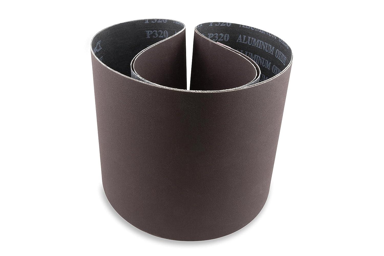 6 X 48 Inch 80 Grit Aluminum Oxide Premium Quality Multipurpose Sanding Belts 2 Pack