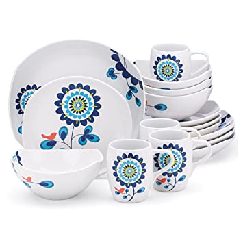 Amazon.com | Dansk Classic Fjord Tweet 16 Piece Dinnerware Set Dinnerware Sets  sc 1 st  Amazon.com & Amazon.com | Dansk Classic Fjord Tweet 16 Piece Dinnerware Set ...