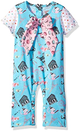 0a4c73659d8 Amazon.com  Jelly the Pug Baby Girls  Paris Nicole Romper  Clothing