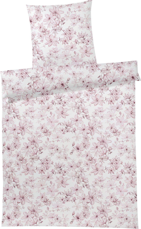 Elegante Bio-Bettwäsche Satin rosé Größe 135x200 cm (80x80 cm)