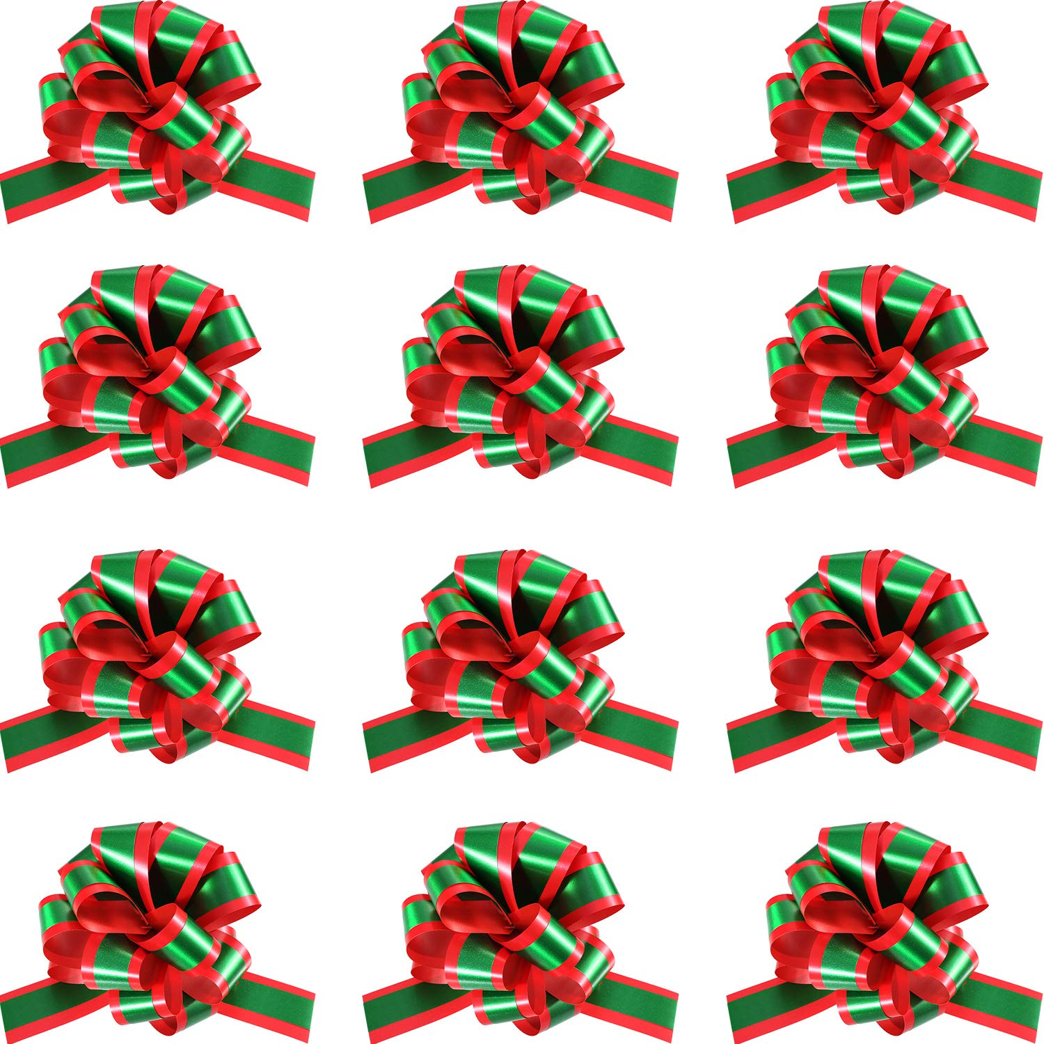 """7/"""" Christmas Tree Florist Decoration Giant Bows /& Long tails x 2 Red//Green"""