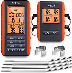 Amazon.com : Veken Meat Thermometer for Grilling, BBQ ...