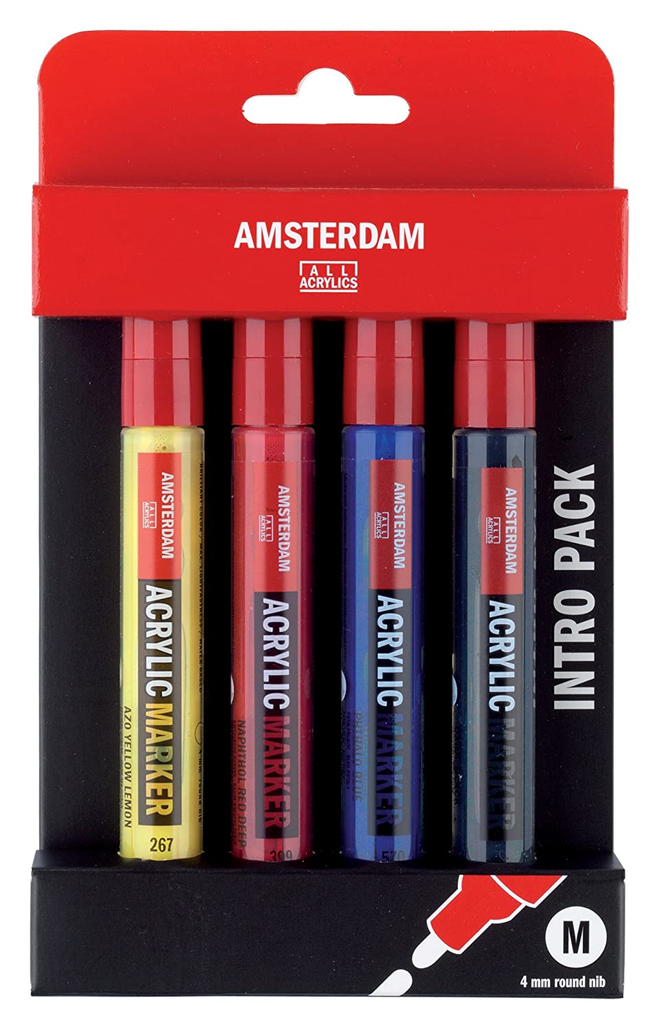 6 by 4mm by Talens Talens Amsterdam All Acrylic Marker Starter Set