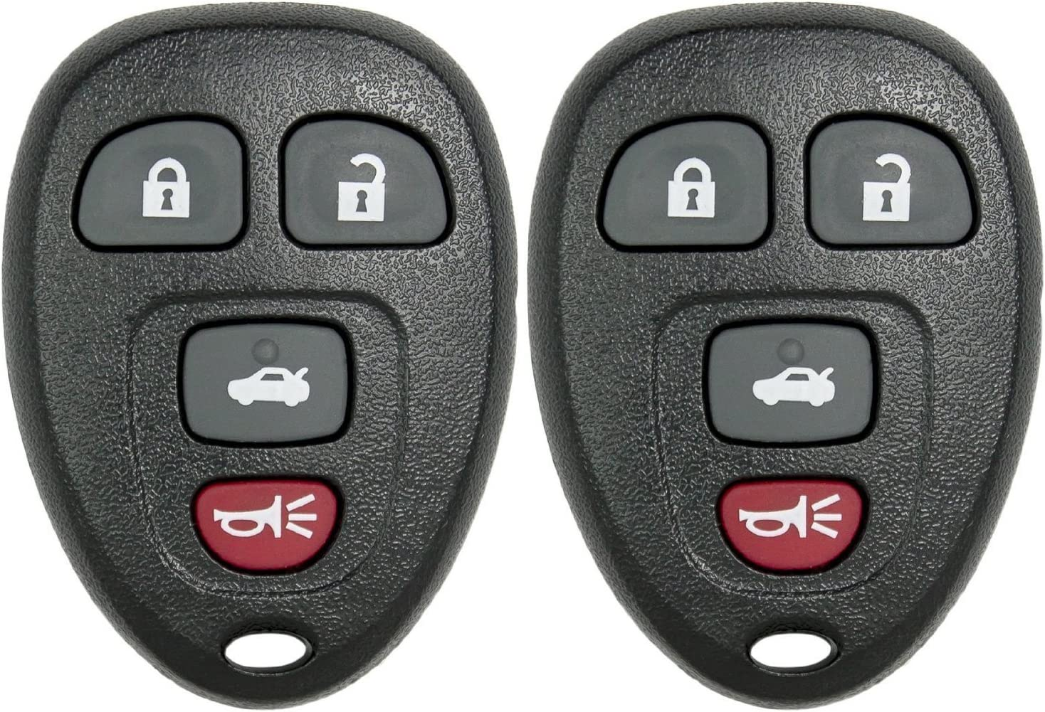 2 New Replacement Keyless Entry 4 Button Remote Car Key Fobs for Select GM Chevrolet Pontiac Saturn and Buick Using 15252034 AmericanAutomotiveSupply