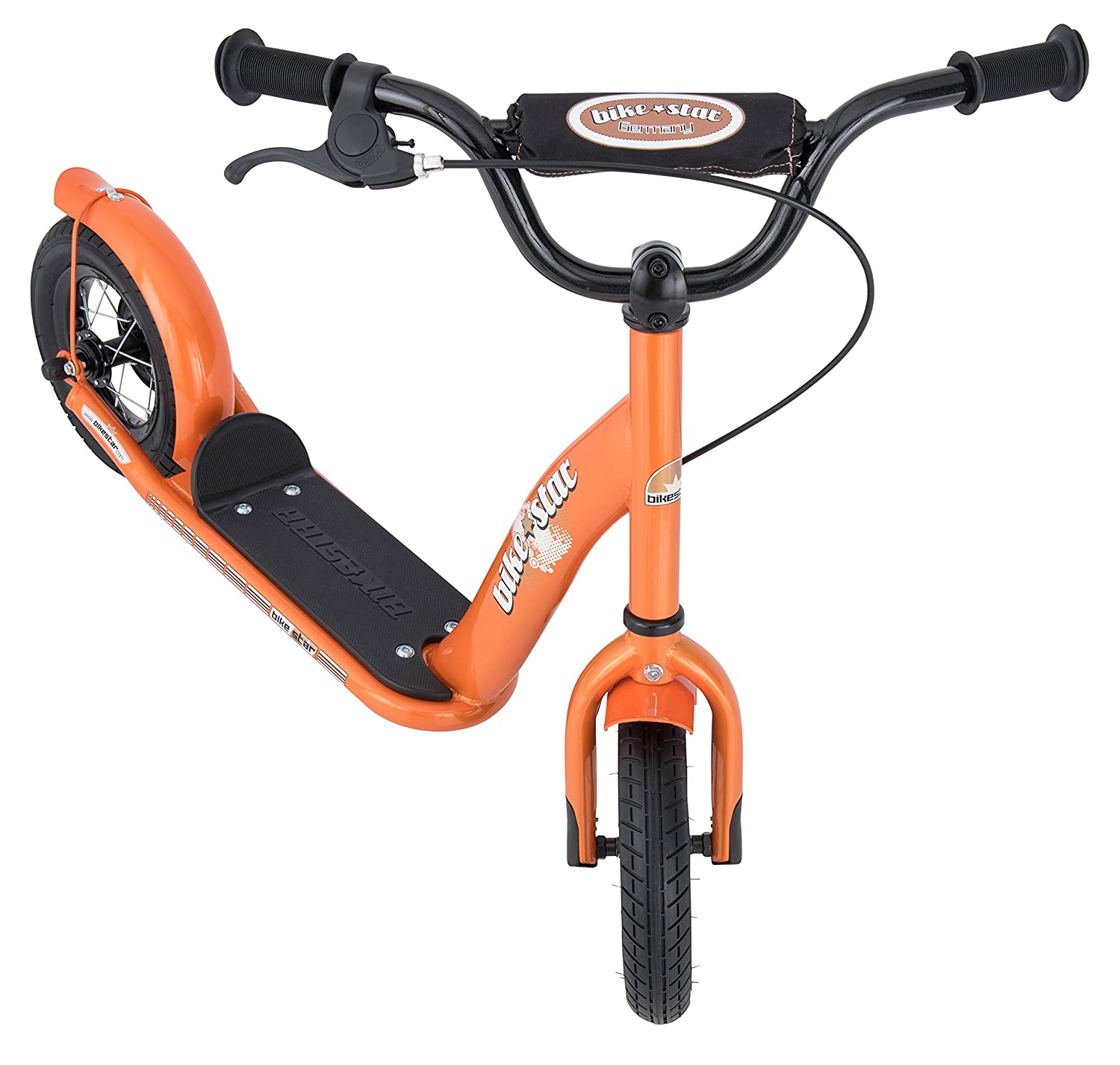 10 Inch Alloy Wheels Boys and Girls Star-Trademarks Star Trademarks/_SC-10-KK-01-BLUE BIKESTAR Original Safety Pro Sport Push Kick Scooter Kids with Brakes Mudguard and air Tires for Age 5 Year Old Children