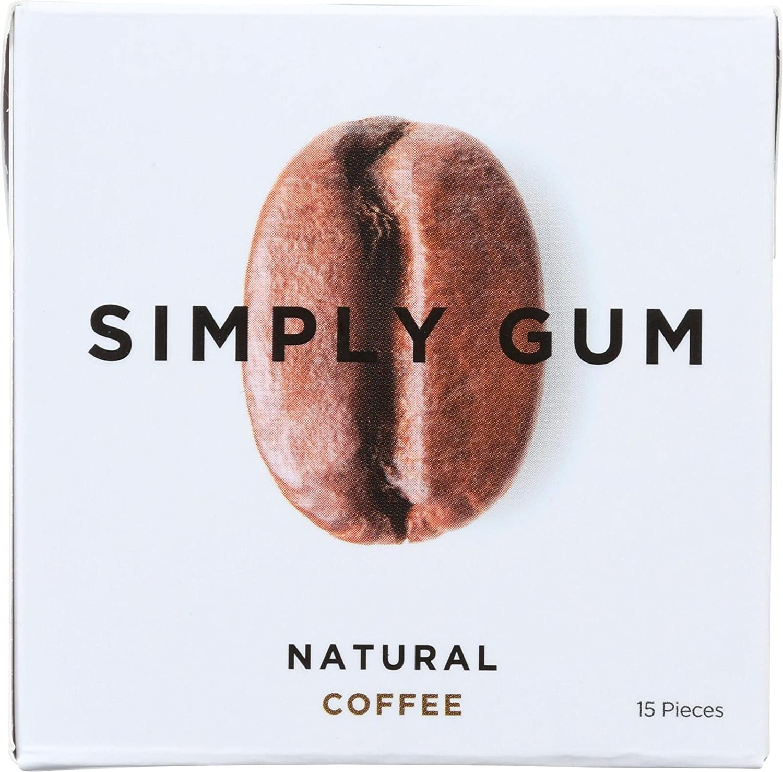 Simply Gum, Gum, Natural Coffee, 15 Pieces
