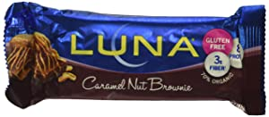 LUNA BAR - Gluten Free Snack Bars - Caramel Walnut Brownie Flavor - (1.69 Ounce Snack Bar, 15 Count)