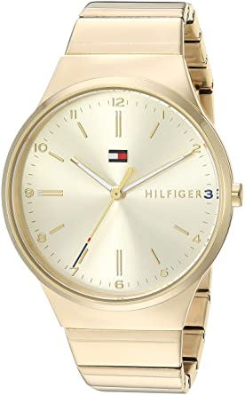 3b47da0f Image Unavailable. Image not available for. Color: Tommy Hilfiger Women's  Sophisticated Sport Quartz Watch with Gold-Tone-Stainless-Steel Strap