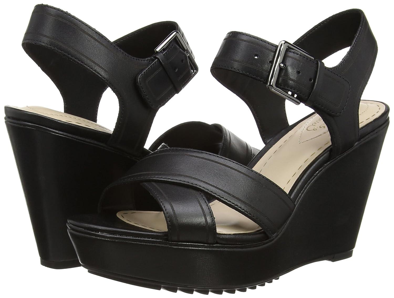Clarks Scent Sky, Women's Wedge Heels Sandals, Black (Black Leather), 5 UK  (38 EU): Amazon.co.uk: Shoes & Bags