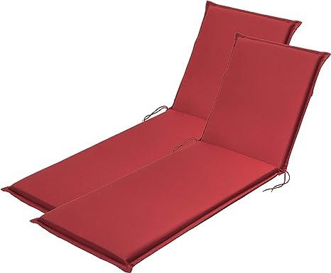 Traumnacht Confort, Cojines para Silla, 2 unidades, Rojo
