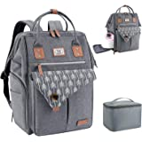 Lekebaby Breast Pump Bag Backpack, Large Breast Pump Backpack with Cooler Bag for Working Moms, Fits Most Size Breast Pump, G