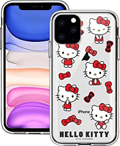 iPhone 11 Case Sanrio Cute Border Clear Jelly Cover [ iPhone 11 (6.1inch) ] Case - Play Hello Kitty