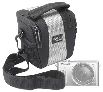 DURAGADGET Bolso con Bandolera para Cámara Bridge CSC Nikon 1 AW1 ...