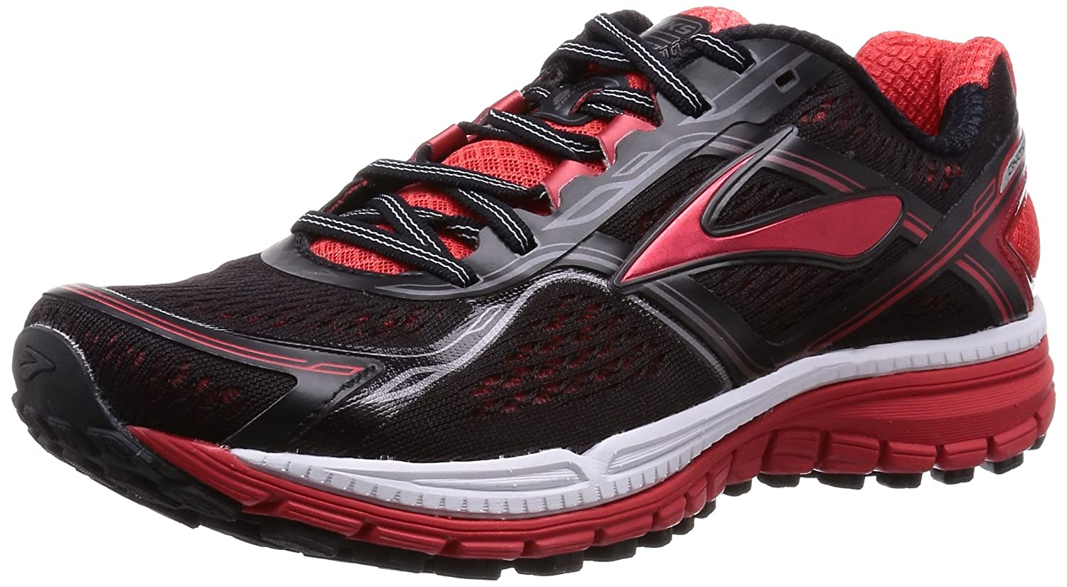 Brooks Ghost 8 M, Zapatillas de Running para Hombre 40.5 EU|Black/High Risk Red/Silver