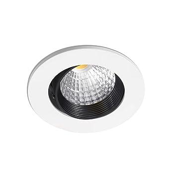 Faro Barcelona Nusa 02090101 - Empotrable (bombilla incluida) LED, 38°, 7W, cuerpo de aluminio, color blanco: Amazon.es: Iluminación