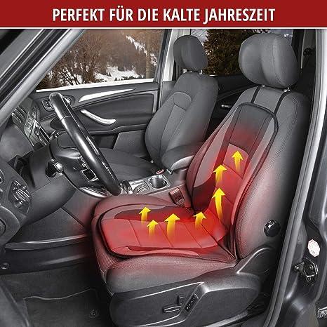 Walser 16792 Beheizbare Sitzauflage Autositzauflage Hot Stuff Heizbare Sitzkissen Sitzheizung Für Pkw Lkw Kfz Auto In Grau Schwarz Auto