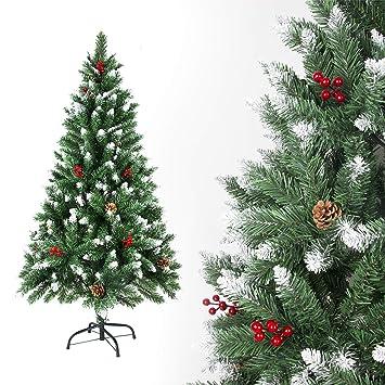 c06f76e7fe7 SunJas Árbol de Navidad Artificial Pino Material PVC