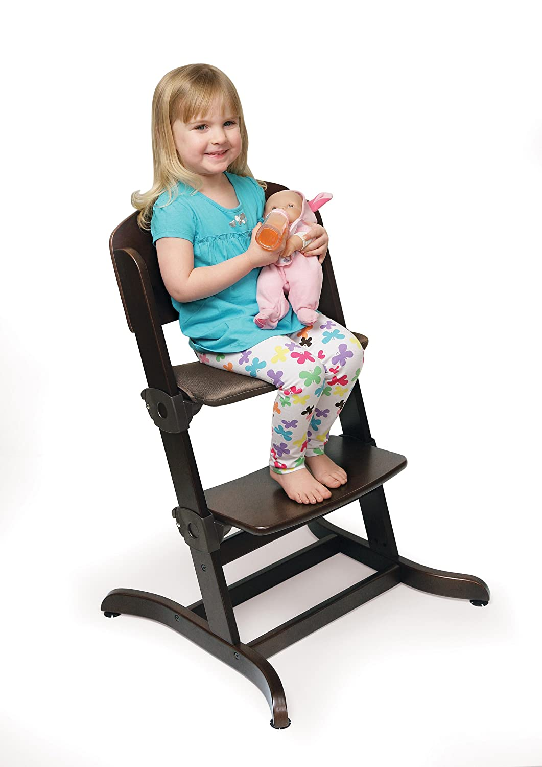 Charming Amazon.com : Badger Basket Evolve Convertible Wood High Chair With Tray And  Cushion, Espresso (Discontinued By Manufacturer) : Childrens Highchairs :  Baby
