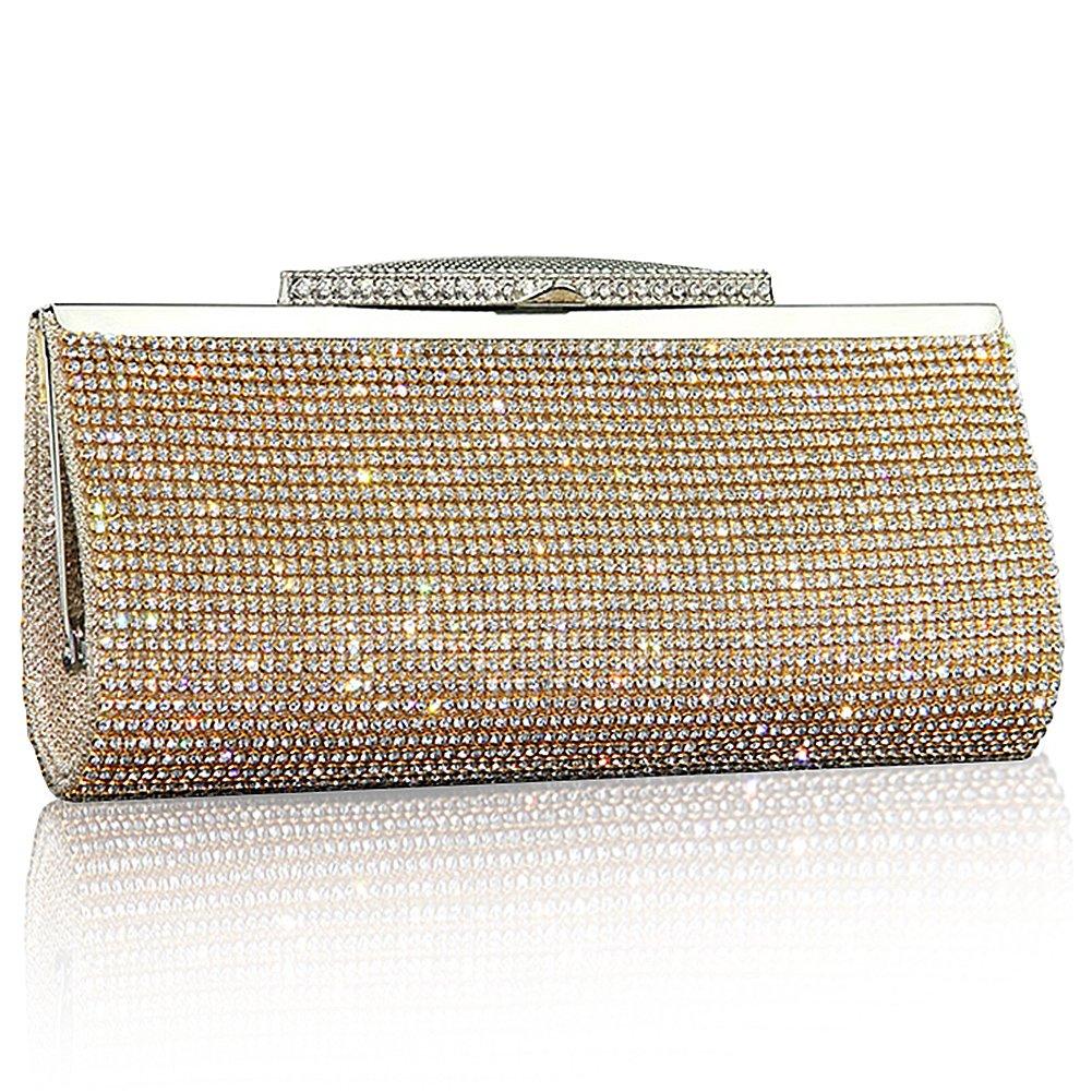 Mode-Frauen Funkeln-Handtasche Kristall-Diamante Sparkly Silber-Gold-Schwarz-Abend-Braut-Abschlussball-Partei-Handtaschen-Geldbeutel SSMK evening clutch