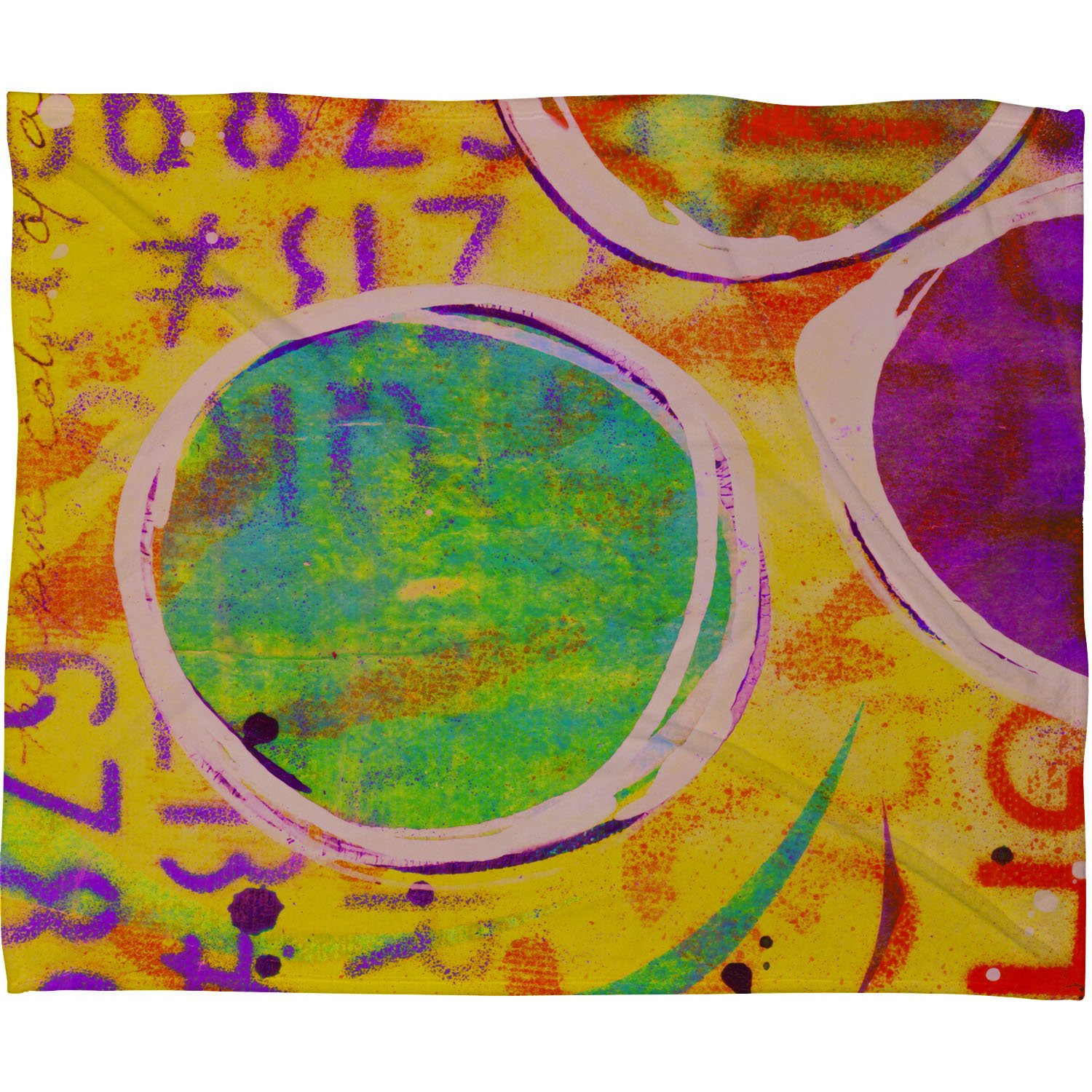 50 x 60 Deny Designs Sophia Buddenhagen Colored Circles Fleece Throw Blanket