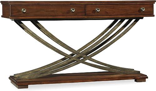 Hooker Furniture Palisade Cross Base Sofa Table in Walnut