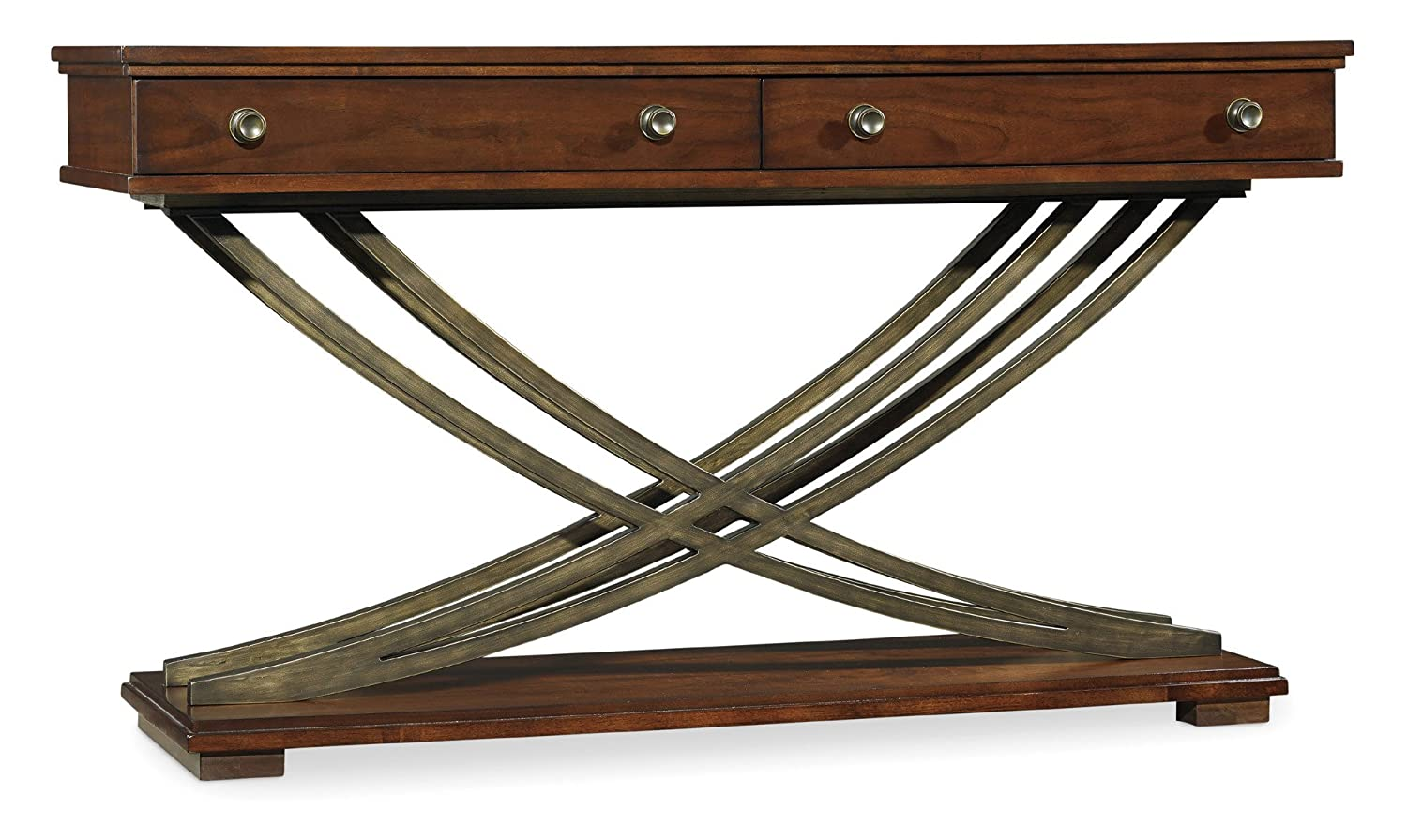 Amazon.com: Hooker Furniture Palisade Cross Base Sofa Table In Walnut:  Kitchen U0026 Dining