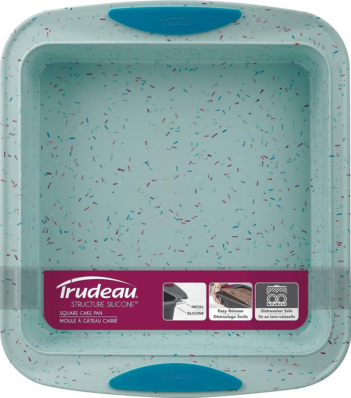 Blue Confetti Medium Trudeau SQUARE CAKE PAN 8x8 Silicone Bakeware