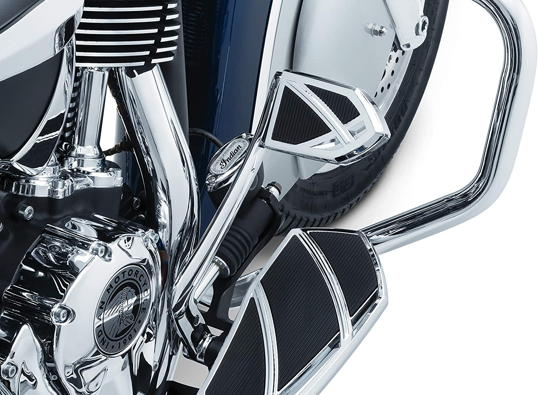 Kuryakyn 5765 Motorcycle Foot Control Phantom Brake Pedal Pad for 2014-19 Indian Motorcycles Gloss Black